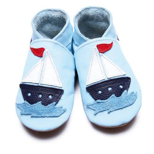 Inch Blue 1580 S, Jungen Babyschuhe - Krabbelschuhe & Puschen blau blau T 17-18 cm - 0-6 Monate