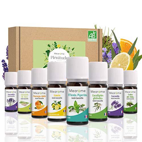 Aceites Esenciales para Humificador, Aromaterapia, 100% Naturales, Bio, Set de Aceites...