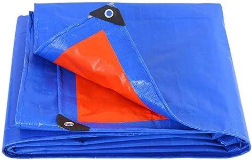 Auvent de jardin Bache légère extérieure imperméable en plastique grand polythène recouvrant bleu Tarpolin meubles de jardin Couverture de voiture en plein air en hiver support de plancher lingettes b
