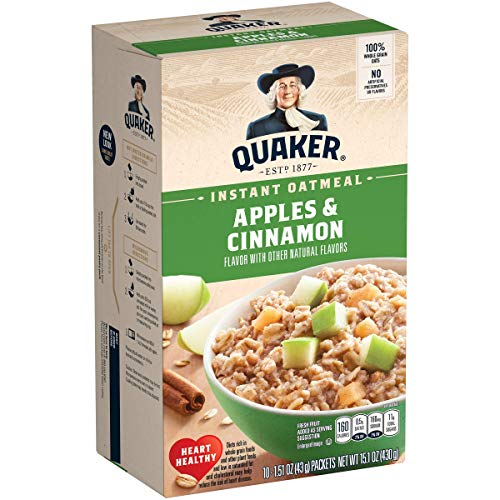 Quaker Instant Oatmeal Apple Cinnamon – 10ct