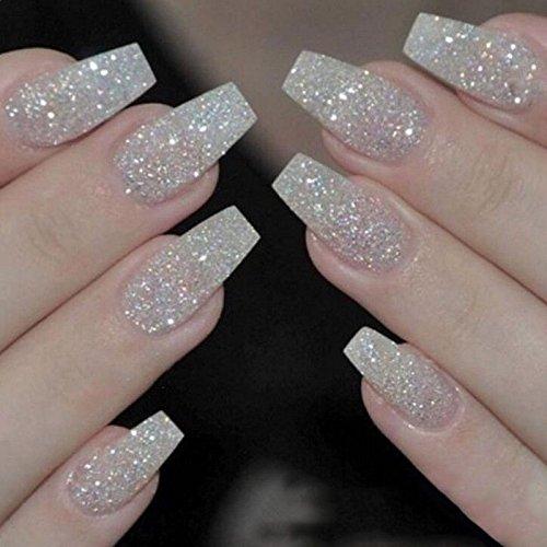 100 uñas postizas acrílicas transparentes, suministros de cosméticos para uñas, uñas artificiales para...