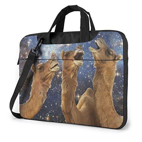 15.6″Lightweight Laptop Notebook Shoulder Backpack Bag Llama Pattern Waterproof PC Briefcase Messenger with Strap