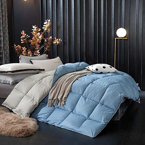 Goodlife-1 Duvet Double Bed All Seasons King Size Duvet Comfort Feels Like Down Anti Allergy Duvet Anti-Bacterial Quilt-180x220cm-3kg_blue