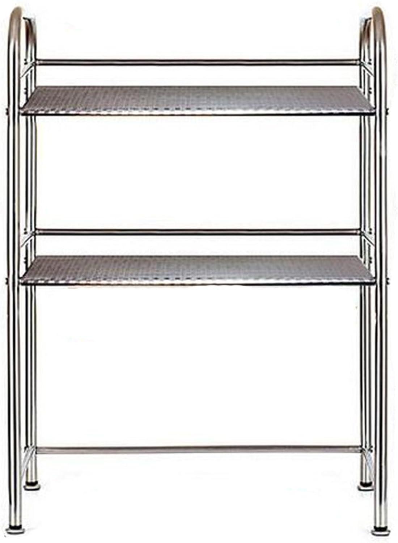 Intermediate Plate Adjustable 5cm Stainless Steel Kitchen Shelf Microwave Oven Rack Vegetable Racks Kitchen Supplies Storage Shelves Landing (Size   Length 60cm)