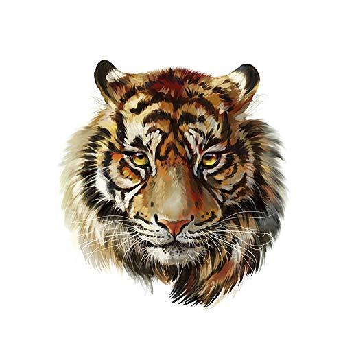 ZHOUBA Parche de cabeza de tigre para transferencia de calor con apliques para planchar, decoración de ropa, multicolor, Multi