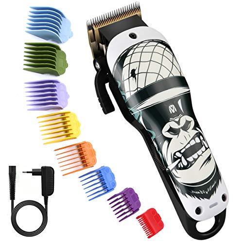 Pro Haarschneider, BESTBOMG Gorilla Haarpflege-Kits mit 8 Führungskämmen, 2000mAh Li-Ionen-Batterie,5500rpm,Schnurloser Haarschneide-Kit Wiederaufladbarer Haarschneidemaschine
