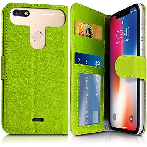 Karylax Schutzhülle für Smartphone Archos 50e Neon (Ref.4-C) Grün