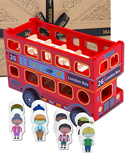 Jaques of London Toy Bus | Wooden Toy Bus with Passengers | Toddler Toys...