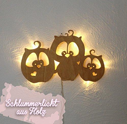 ilka parey wandtattoo-welt Lampe Murale Luminaire pour Enfants répétition Lampe Lampe Chouette Hibou M931