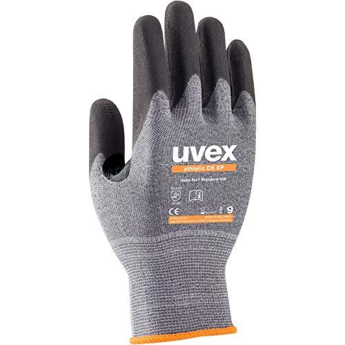 Uvex Athletic D5 XP Schnittschutzhandschuhe - 1 Paar Arbeitshandschuhe mit Daumenbeugenverstärkung 11/XXL