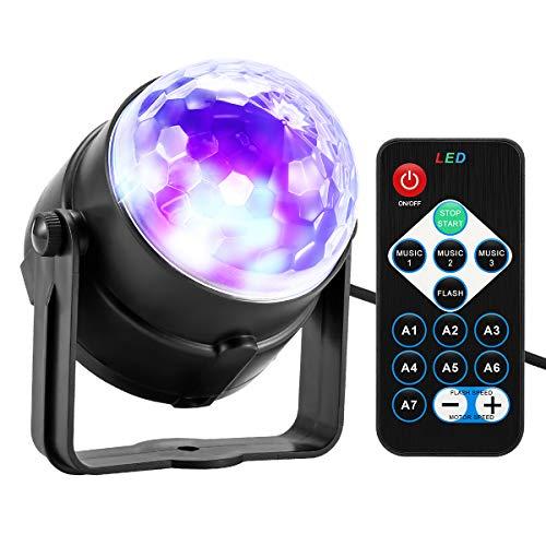 Konesky Disco Lights 3W Ball Lights met afstandsbediening RGB geluid geactiveerd DJ Stage kleur veranderende lamp voor Party KTV Club Pub Kerstmis bruiloft