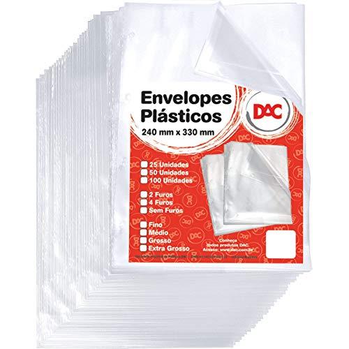 Blister 50 Envelope Grosso 4Folhas, DAC, Blister 50 Envelope Grosso 4Folhas 5076-50, Transparente, pacote de 50