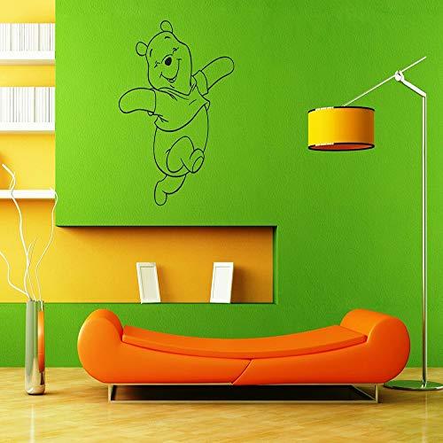 Baby Bär Cartoon Wandaufkleber Schlafzimmer niedlichen Vinyl Wandaufkleber Kinderzimmer abnehmbare selbstklebende Wandaufkleber42x49 cm
