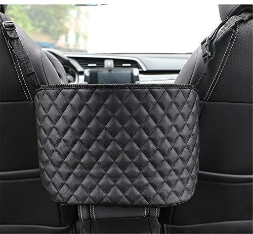 GCARTOUR Car Pocket Handbag Holder PU Leather,Car PU Leather Organizer,Seat Back Net Bag,Driver Storage Leather Pouch,Car Hooks for Purses,Bags,Front Seat,Handbag Holder,Handbag Holder (Black)