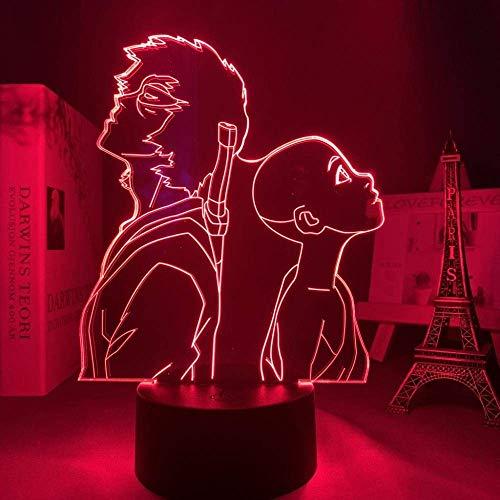 Lámpara LED 3D anime avatar último aviador para dormitorio regalo de cumpleaños decorativo acrílico LED luz nocturna
