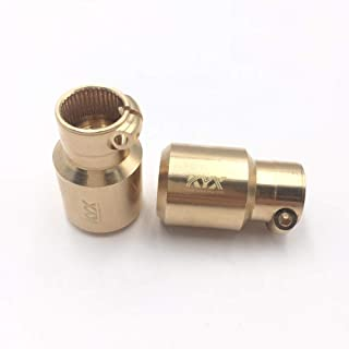 KYX Racing Brass Straight Axle Rear Lock-Out Adapter for 1/10 Rc Crawler SCX10 II