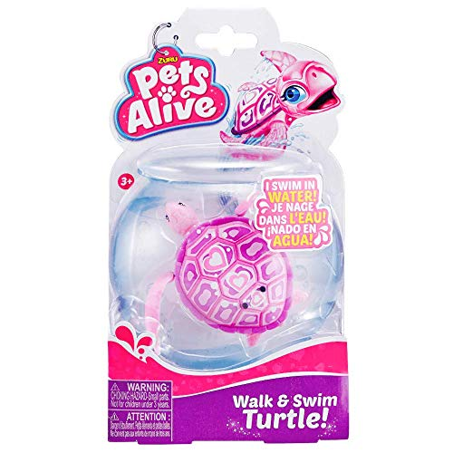 Tiny Turtle Cute Seas Robo Alive Water Activated Pet Pink