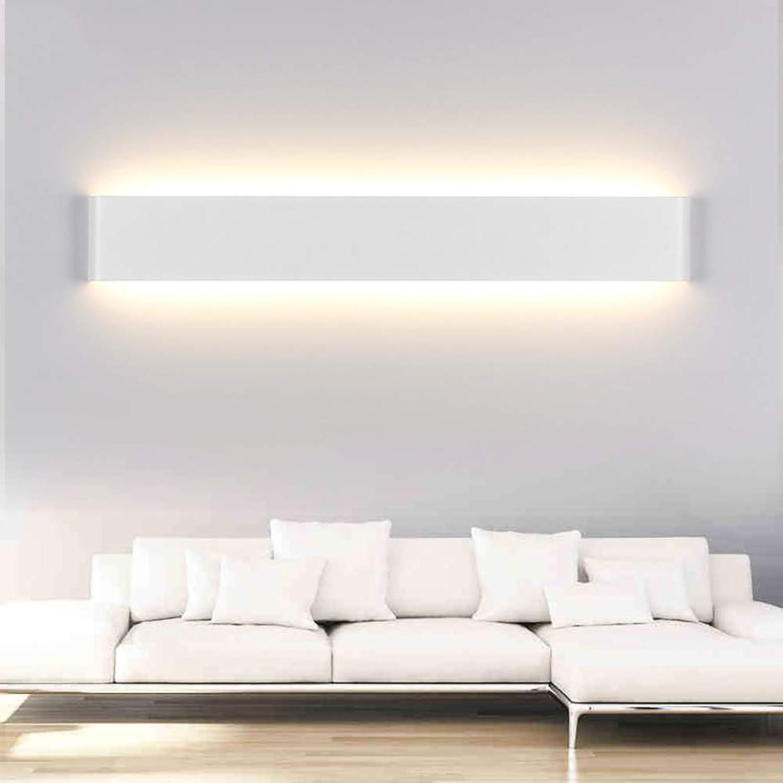 WWLONG LED Badezimmer Spiegel Licht Spiegel Scheinwerfer Aluminium Wandleuchte, Treppengang Lampe Schlafzimmer Nachttischlampe Wohnzimmer Hintergrund Wandleuchte-Weiß-72cm