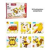 Yissma DIY Baustein Puzzle Set 400-800 Stück,Kinder Lernspielzeug Tier Thema Puzzle Spielzeug für Kinder