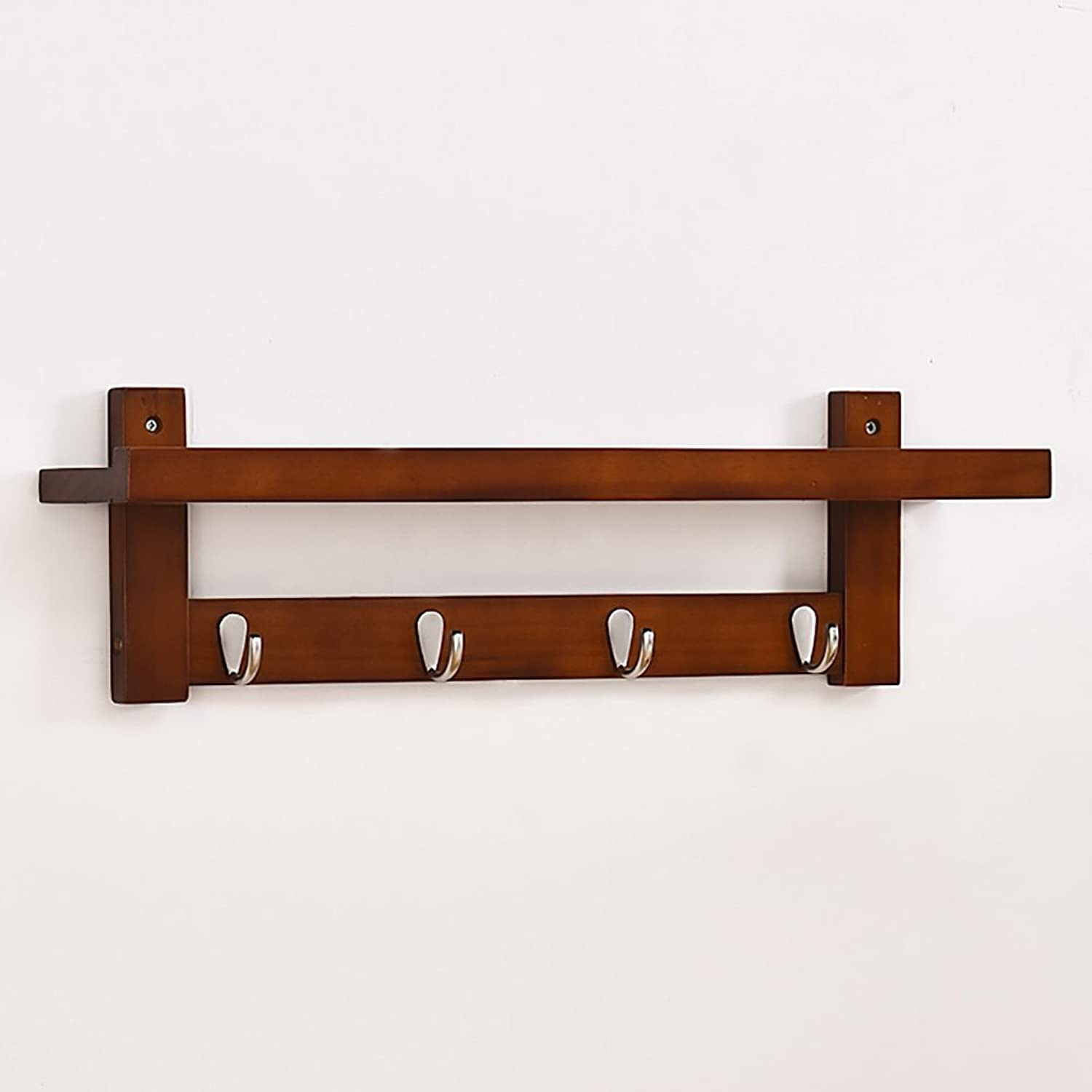 LFF- Simple Wall-Mounted Coat Rack Bedroom Wooden Hangers Creative Piano Wall Hanging Multifunctional Living Room Wall Hanger (color   orange, Size   A)
