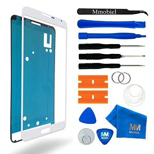 MMOBIEL Front Glas Reparatur Set kompatibel mit Samsung Galaxy Note 3 N9000 N9005 (Weiss) Display mit Werkzeug