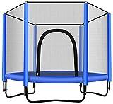Woodtree Herramientas Dispositivos Home Fitness trampolín con Red de Seguridad de 60 Pulgadas Trampolín -Espace o Fuera de la Infancia, Color: Multi (Color : Multi)