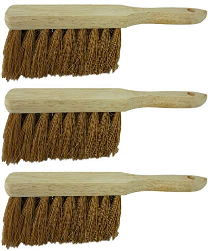 Novaliv 3X Handfeger Kokosborsten Besen Kokos Handbesen Auto Kehrwisch Industriehandfeger Schneefeger Schneebesen Hand Brush Dust pan