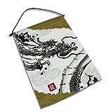 Japanese Noren cortina restaurante cartel, bandera, diseño de dragón