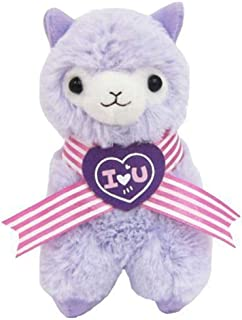"Yes Anime Llama Sweet Heart Alpaca 18"" Plush Purple"