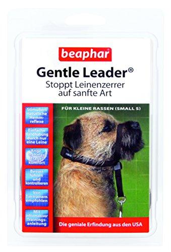 Gentle Leader® für Hunde | Erziehnungshilfe für Leinenzerrer | Besser führen & kontrollieren | Trainings-Halsband für Hunde | Farbe: Schwarz | Größe S