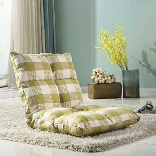 JIXIAO Sofa Fauler Sofastuhl, Tatami Bodenkissen Bett Stuhl Folding Sofa (Grau + Weiß) (Color : Green+White)