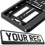 Taport® - Supporto per registrazione auto, per qualsiasi auto, furgoni, camion, rimorchi, ruote (cerniere in carbonio)