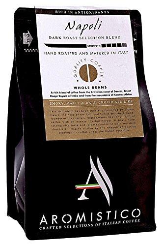 AROMISTICO   Italian Dark Roast Whole Bean Gourmet Coffee Blend