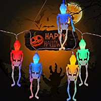 Halloween Deko Garten Halloween Lichterkette halloween deko horror Außen Innen halloween lichterkette Batterie für...