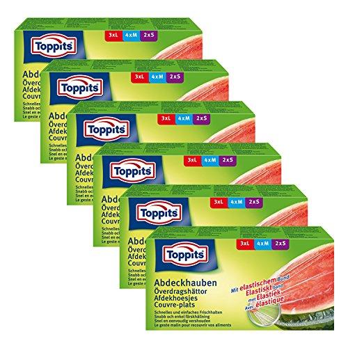 Toppits Abdeckhauben mit elastischem Bund, 6er Pack (6 x 9 Hauben)