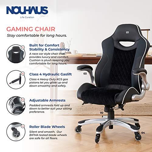 NOUHAUS Velour Ergonomic Gaming Chair