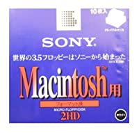 Macフォーマット済み3.5インチ2HDフロッピーディスク10枚パック SONY 10MF2HDGMC