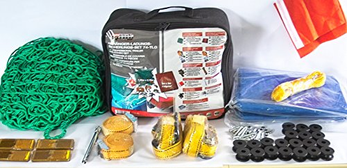 MBM Anhänger Ladungssicherungs Set 74 teilig inkl. Netz, Plane, Spanngurte UVM.