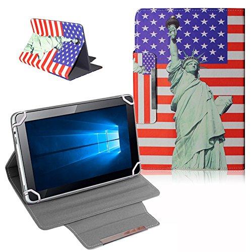 UC-Express Schutz Tasche für Odys Score Plus 3G - Rise 10 Hülle Tablet Schutzhülle Cover Case Bag USA Flagge Etui