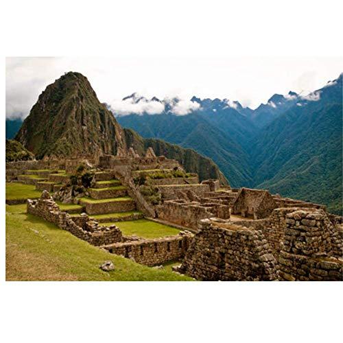 NRRTBWDHL Machu Picchu, Peru INCA ZIVILISIERUNG atemberaubendeGemälde aus dem15. JahrhundertLeinwanddruckeWandkunstfür Wohnzimmer Schlafzimmer Dekor-50x70cm ohne Rahmen