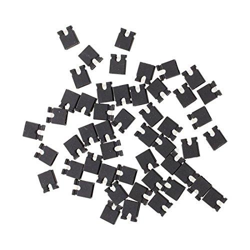 Cikuso Cikuso (R) 50 Stueck 2,54 mm Stecker Bruecke Mini Jumper Steckverbinder