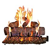 Peterson Real Fyre 24-inch Live Oak Log Set with Vented Burner, Auto-Safety Pilot Control Valve and Gas Connection Kit...