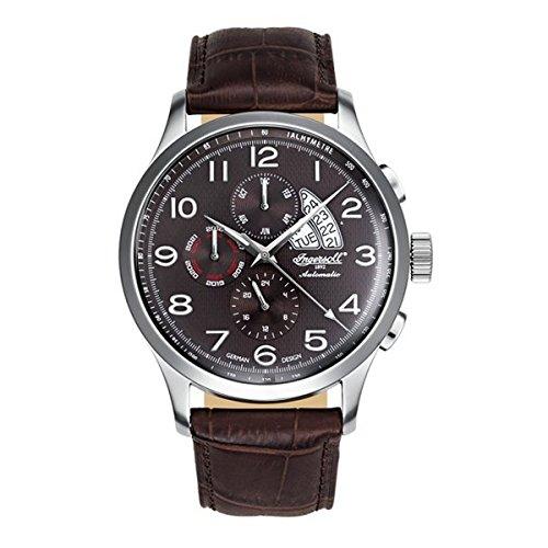 Ingersoll Herren Analog Automatik Uhr mit Leder Armband IN1514BR