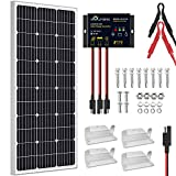 SOLPERK 100W Solar Panel 12V, Monocrystalline Solar Panel Kit with High Efficiency Module PV Power for Battery Charging, Off Grid...