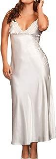 Women Long Long Silk Kimono Dressing Gown Lace Lingerie Bath Robe
