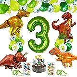 Selva Dinosaurio Globos,Globos de Dinosaurio Set,Globos Dinosaurio,Fiestas de Dinosaurios Globos,Decoracion Cumpleaños Dinosaurios.