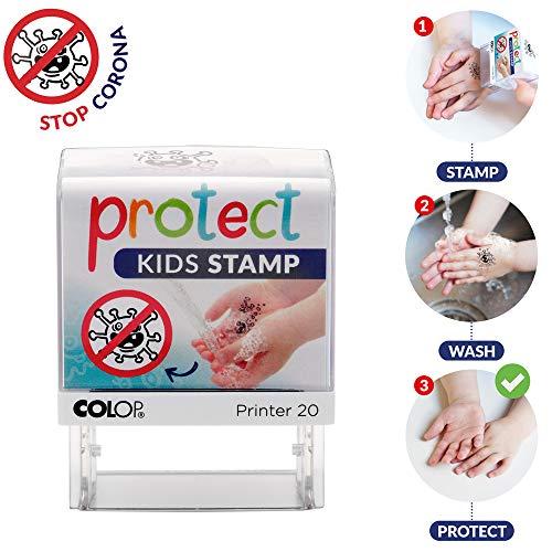 Colop - Sello para lavar las manos, 190 x 120 mm, Blanco