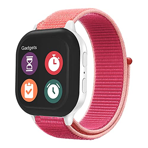OWKEY Kids Band Replacement Compatible for Gizmo Watch, Breathable Hook & Loop Nylon Watch Bands with Quick Release Pins, Compatible with Verizon Gizmo Watch 2/1
