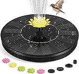 Bomba de fuente solar para el baño de pájaros, 3 W, fuente de baño solar mejorada para pájaros con 10 boquillas flotantes de pie, bomba de agua para jardín, estanque, piscina, al aire libre