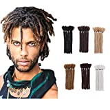 Dark Blonde Short Dreadlock Extension Hip-Pop Hair Dread Synthetic Box Braiding Handmade Braiding Reggae Hair For Men Soft Fax Locs Crochet Twist 6In (3Packs/15Strands,Dark Blonde)